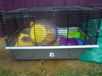 LARGE HAMSTER CAGE WITH ALL ACCESSORIES- EXCELLENT CONDITIION