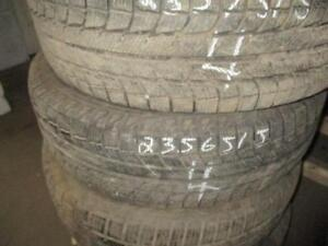 235/65 R15 MICHELIN WINTER TIRES USED SNOW TIRES (SET OF 2) - APPROX. 90% TREAD