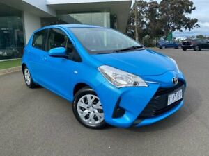 2017 Toyota Yaris NCP130R Ascent Blue 4 Speed Automatic Hatchback Traralgon Latrobe Valley Preview