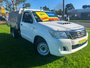 2015 Toyota Hilux KUN16R MY14 SR 4x2 White 5 Speed Manual Cab Chassis Ferntree Gully Knox Area Preview