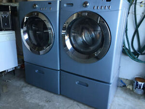 "quick sale Frigidaire 27"" front load washer electric dryer 2 yr"