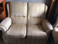 2-Seater 3-Piece Suite with matching Footstool