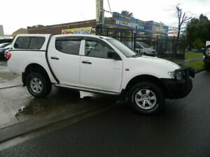 2009 Mitsubishi Triton ML MY09 GLX (4x4) White 5 Speed Manual 4x4 Double Cab Utility Williamstown North Hobsons Bay Area Preview