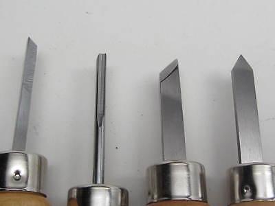 4 Lathe Mini Wood Turning Tools Parting Gouge Skew Pen Dollhouse   RAMELSON USA