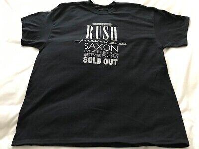 Rush - Permanent Waves Tour w/Saxon - T shirt - 9/25/1980 Spectrum Philadelphia
