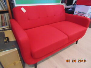 Red Retro Loveseat(Trail)