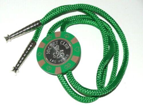 JOCKEY CLUB $25 Casino Chip LAS VEGAS Nevada Bolo Tie  WESTERN RODEO