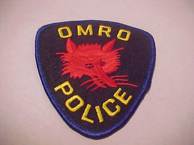 OMRO WISCONSIN  POLICE PATCH SHOULDER SIZE UNUSED
