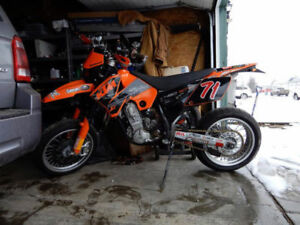 KTM 450SMR, rare factory supermoto. Street Legal!