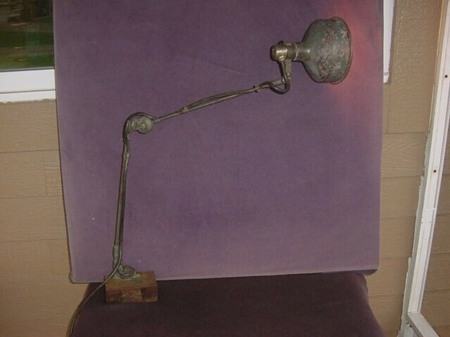 Vtg. McCrosky Co. articulating task shop light lamp