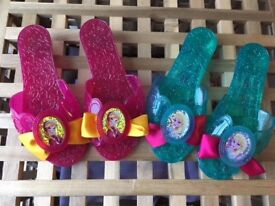 2 X pairs of Frozen jelly dressing up shoes - small size