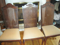 3 dinning chairs