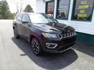 2018 Jeep Compass Limited 4x4 for $244 bi-weekly all in!