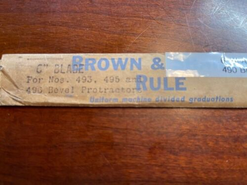 Brown and Sharpe 599-490-6  Blade for Combination Square  VINTAGE!!