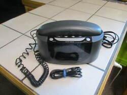 Vintage Emerson Model CKT9008 Phone Radio Alarm Clock Combo *Tested & Working*