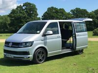 VW Transporter T6 DSG Kombi - HIGHLINE - WITH CAMPER BED - Tailgate - twin captains