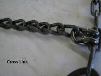 SKID STEER AND BOBCAT TIRE CHAINS
