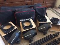 Neewer 540W(180W x 3) Professional Photography Studio Flash Strobe Lighting Kit.