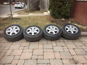 "Mercedes ML500 big brake 17"" OEM wheels and Proxes ST tires"