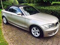 BMW 120i SE Convertible - audi a1 a3 a4 z3 z4 mercedes ford vw mr2 mx5 fiat 500 golf astra focus ka