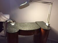 Manicure Table Set w/Spa Magnifying Lamp & Stand