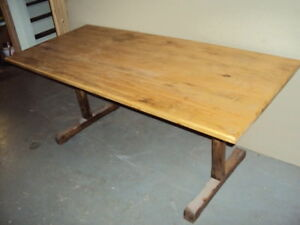 NEW HAND BUILT FARM/ HARVEST TABLE-- REDUCED
