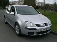 06 REG VW VOLKSWAGEN GOLF 1.6 FSI SE 5 DOOR HATCHBACK IN SILVER HPI CLEAR