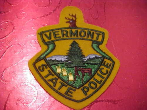 VERMONT STATE POLICE PATCH SHOULDER SIZE UNUSED FELT