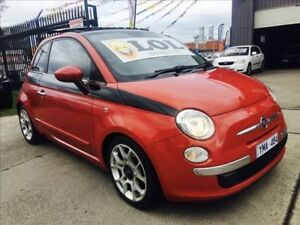 2008 Fiat 500 POP Monza Red 5 Speed Manual Hatchback Brooklyn Brimbank Area Preview