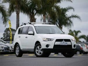 2010 Mitsubishi Outlander ZH MY10 LS White 6 Speed Constant Variable Wagon Cheltenham Kingston Area Preview