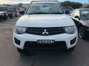 2014 Mitsubishi Triton MN MY15 GL 4x2 White 5 Speed Manual Cab Chassis West Tamworth Tamworth City Preview
