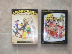 2 coffrets films DVD - Flintstone et Looney Tunes