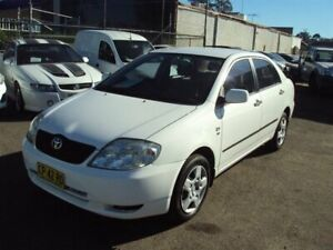 2003 Toyota Corolla ZZE122R Ascent White 4 Speed Automatic Sedan Punchbowl Canterbury Area Preview