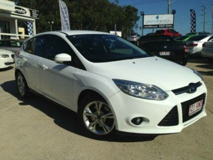2012 Ford Focus LW MKII Trend PwrShift White 6 SPEED Semi Auto Hatchback Southport Gold Coast City Preview