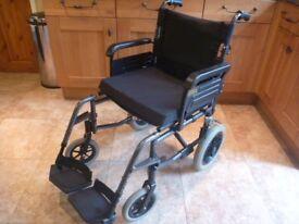 Lightweight Attendant Propelled Wheelchair in Excellent Condition
