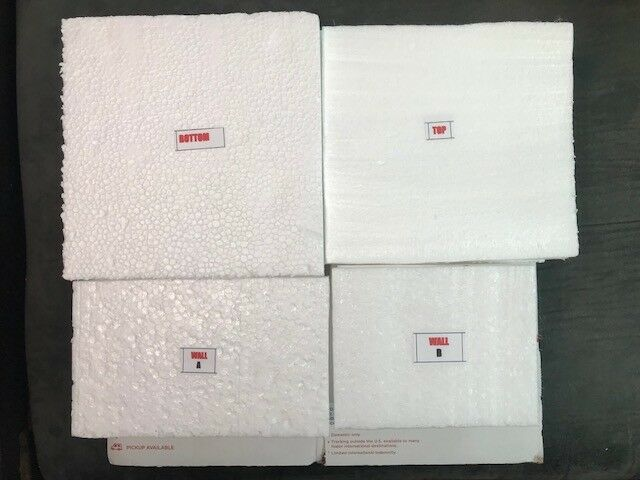 Details about 30 Heavy Duty Styrofoam Liners Fit 7x7x6 USPS Shipping Box 4  -Insulated Packing