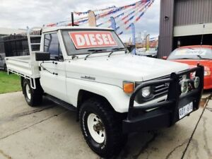 1991 Toyota Landcruiser HZJ75RP (4x4) White 5 Speed Manual 4x4 Cab Chassis