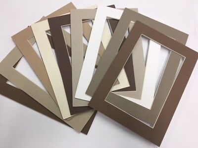 Picture Frame Mat 5x7 for 4x6 Antique tans browns set of 12](Photo Mat)