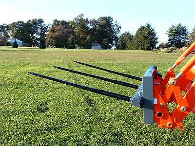 """Skid Steer TRIPLE Bale Spear Attachment 3 x 49"""" Prong CAT-M Hay Bale Handler"""