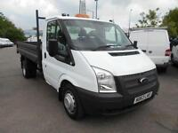 Ford Transit T350 MWB TIPPER TDCI 100Ps [Drw] Euro 5 DIESEL MANUAL WHITE (2014)