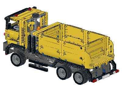 Baukästen & Konstruktion Bauanleitung instruction LKW Truck Kipper 42024 Eigenbau Unikat Moc Lego Technic