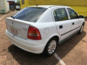 2001 Holden Astra TS City White 5 Speed Automatic Hatchback