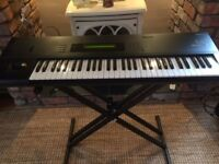 Korg M1 Synth Sequencer Keyboard with Stand and User Manual