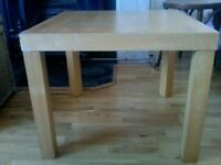 COFFEE TABLE wood small Ikea 'Lack'