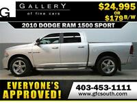 2010 DODGE RAM SPORT CREW *EVERYONE APPROVED* $0 DOWN $179/BW!