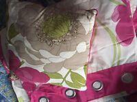 Pretty Next curtains and cushion
