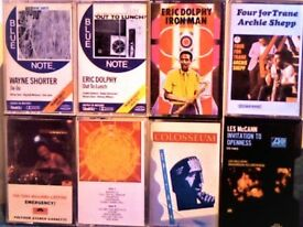 JAZZ: A SHEPP, W SHORTER, SUN RA, T WILLIAMS LIFETIME, E DOLPHY, COLOSSEUM LES MCCANN CASSETTE TAPES