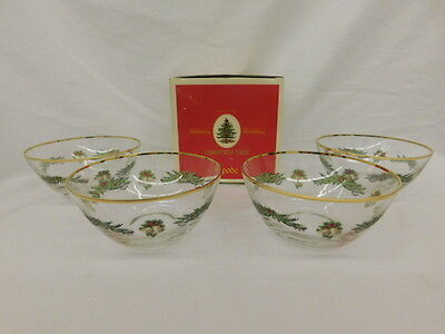 SPODE CHRISTMAS TREE GARLAND SALAD BOWLS SET OF 4