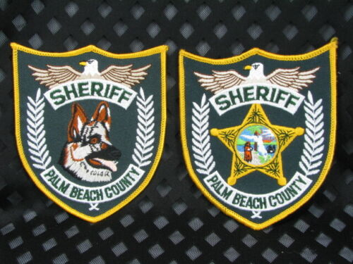 713 Florida PALM BEACH COUNTY SHERIFF Patch Lot 2 Variations