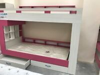 MODERN BUNK BED FOR GIRLS ROOM WITH STORAGE AND DRAWERS! £319!